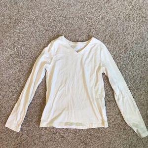 Faded Glory Cream Long Sleeve Shirt
